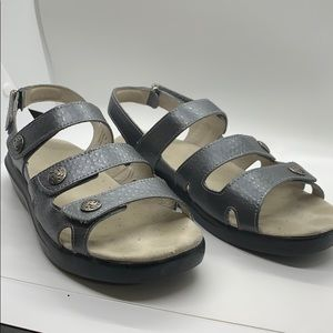 Grey / Silver Propet leather sandals - like new
